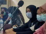 Finalis Kang Nong 2020 saat mengikuti rapat reguler di kantor Disparpora Kabupaten Serang, rabu sore, 20 Januari 2021.